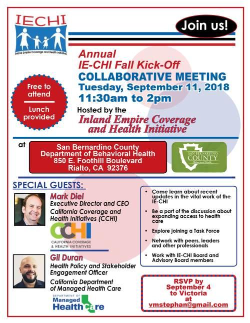 Kick off meeting-Sept. 11 2018